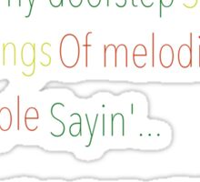 Three Little Birds - Bob Marley and the Wailers Sticker