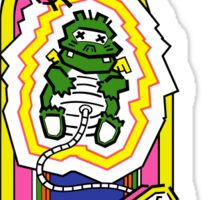 Dig Dug Cabinet  Sticker