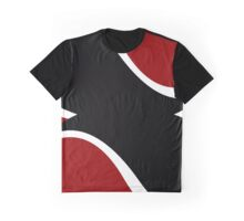 Red White and Black Curves Graphic T-Shirt