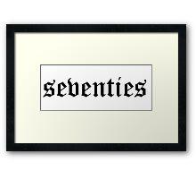 Seventies slogan tee  Framed Print