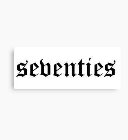 Seventies slogan tee  Canvas Print