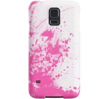 lady and the cat, pink Samsung Galaxy Case/Skin