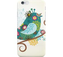 Colored sparrow iPhone Case/Skin