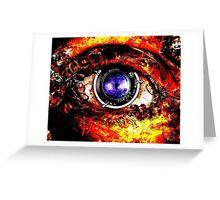 Mechanical Steampunk Eye Greeting Card