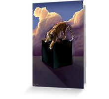 Black Cube Greeting Card