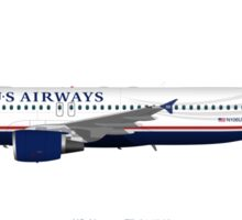 Miracle on the Hudson - US Airways A320 Sticker