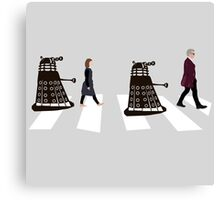 Doctor Who 12th Doctor, Clara and Daleks on Abbey Road Canvas Print