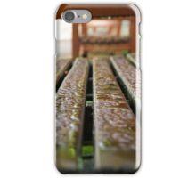 Bench in the Rain iPhone Case/Skin