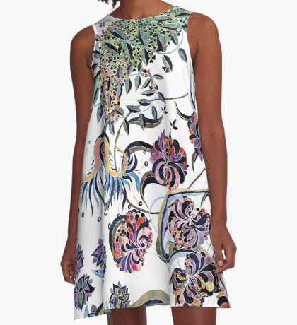 Flowers from the wild garden A-Line Dress