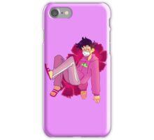 Purple Dark Geranium Ichimatsu iPhone Case/Skin