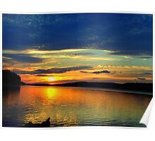 Sunset on the Salmon River Reservoir  Poster