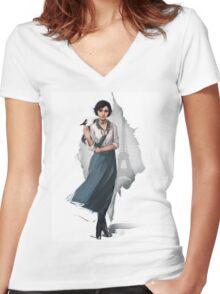 Elizabeth (Bioshock Infinite) Women's Fitted V-Neck T-Shirt