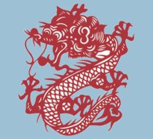 Red Chinese Dragon Baby Tee