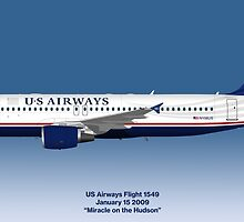 Miracle on the Hudson - US Airways A320 - Blue Version by © Steve H Clark
