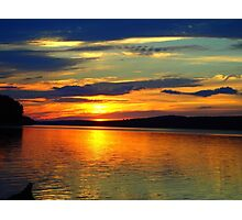Sunset on the Salmon River Reservoir  Photographic Print