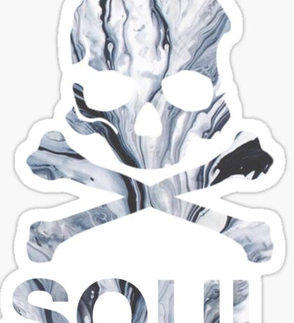 soul - gray marble Sticker