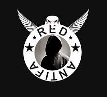 Red Antifa Hooded Figure (White Border) Classic T-Shirt