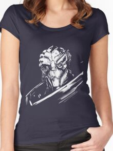 Garus - Mass Effect - White Women's Fitted Scoop T-Shirt
