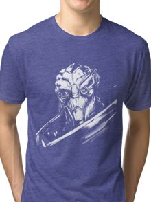 Garus - Mass Effect - White Tri-blend T-Shirt