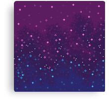 Bi Pride Flag Galaxy (8bit) Canvas Print