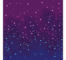 Bi Pride Flag Galaxy (8bit) Photographic Print