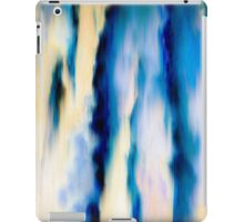 Blue Abstract Falling Water iPad Case/Skin