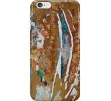 Encrusted silver on cracked desert surface iPhone Case/Skin