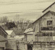 The Old Mill - sepia Sticker