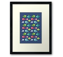Little fishes Framed Print