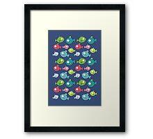 Little fishes Framed Print