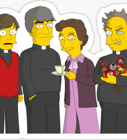 Father Ted - Simpsons Style! Sticker