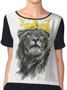 King of the Jungle Chiffon Top
