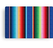 Colorful Mexican Poncho Background Canvas Print