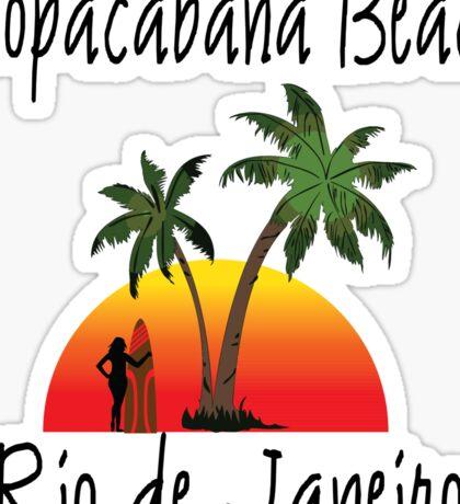 Copacabana Beach Sticker