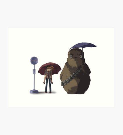 Xfiles - Ghibli (Totoro Bus Stop) Chewie version Art Print