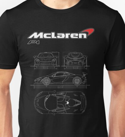 Mclaren P1 Logo with Illustration Unisex T-Shirt