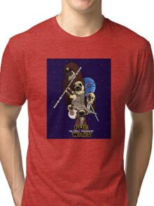 Pug Wars: The Force Pugwakens Tri-blend T-Shirt