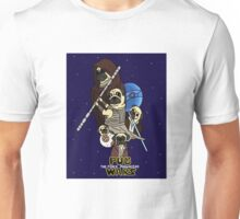 Pug Wars: The Force Pugwakens Unisex T-Shirt