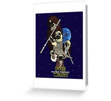 Pug Wars: The Force Pugwakens Greeting Card