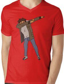 Lance Dabbing Mens V-Neck T-Shirt