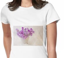 Lavender Sweet Peas And Chiffon Womens Fitted T-Shirt
