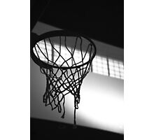 Basketball Hoop Silhouette  Photographic Print