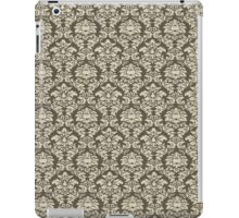 Green damask iPad Case/Skin