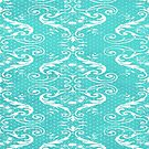 Blue damask by netza