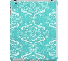 Blue damask iPad Case/Skin