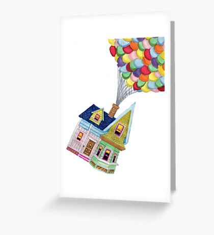 UP HOUSE Greeting Card