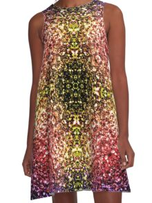 Beautiful rainbow yellow red purple sparkles A-Line Dress