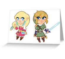 skyward sword Zelda & Link Greeting Card