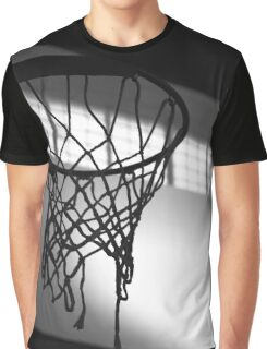 Basketball Hoop Silhouette  Graphic T-Shirt
