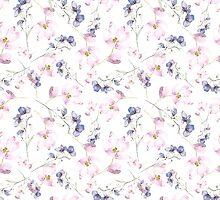 watercolor flowers by annemiek groenhout